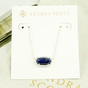 Kendra Scott Elisa necklace blue lapis silver